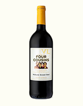 Four Cousins Natural Sweet Red Wine -1.5L